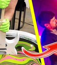 Building and HYDRO-DIPPING a Custom PIA x JEM Guitar