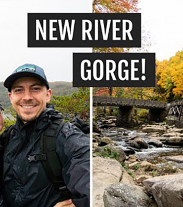 A rainy day in the New River Gorge (West Virginia): Long Point, food, & fall views!